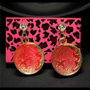 Betsey Johnson Moon Star Earrings